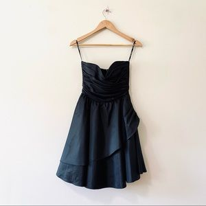 Betsey Johnson black strapless dress gown 4